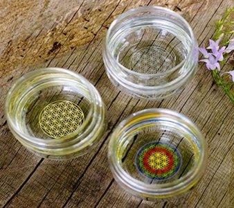 Drinkglas Bloem des Levens - GEKLEURD