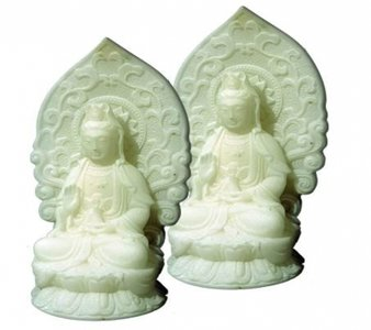 Quan Yin beeldje, wit