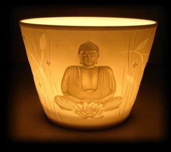 Votieflicht porselein 'Boeddha'