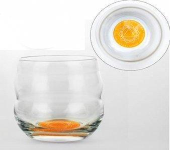 Drinkglas met affirmatie 'MOED'