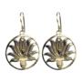 Oorbellen-messing-goudkleurig-lotus